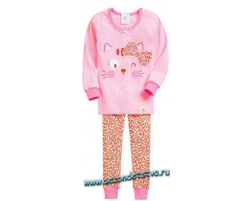 Корейская детская пижама для девочки модель 1343 розовая
