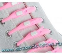 Шнурки силиконовые розовые