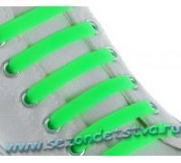 Шнурки силиконовые салатовые неон