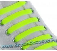 Шнурки силиконовые жёлтые неон