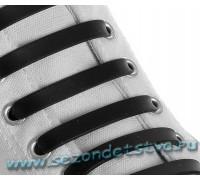 Шнурки силиконовые чёрные
