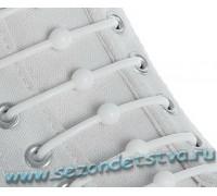 Шнурки силиконовые белые