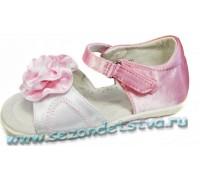 Туфли бело-розовые