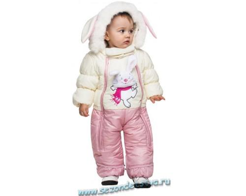 Детский зимний комбинезон-трансформер 62009 Орби, цвет розовый.