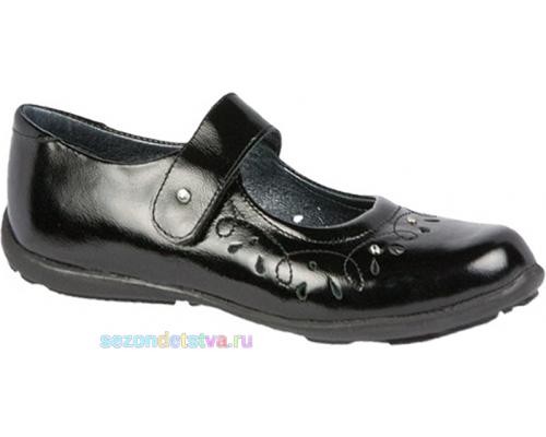 Туфли черные Бартек 15346-M3 Bartek