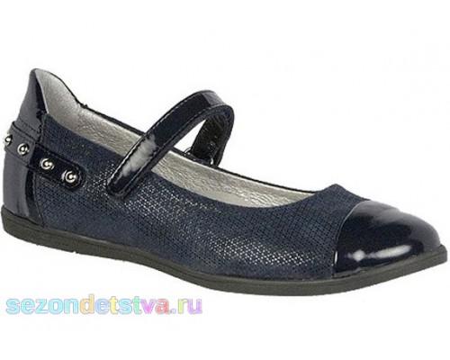 Туфли школьные черно-синие 35374-0S5 Bartek