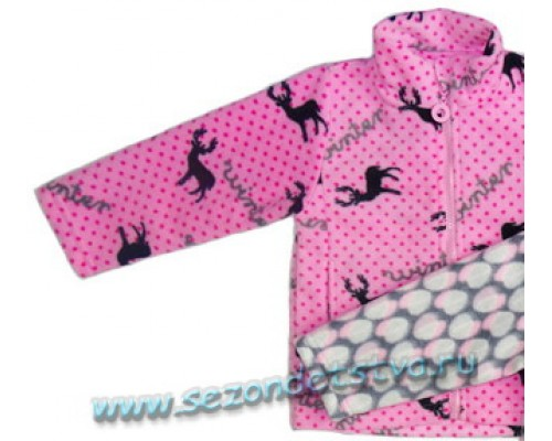 Толстовка розовая флис 428-427 Crockid