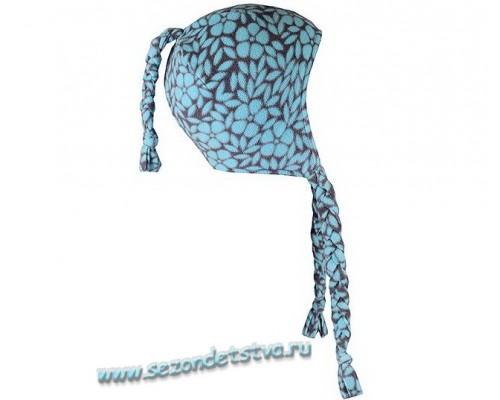 ФЛ 80003/н/6 РР Шапка флисовая Crockid голубая/принт