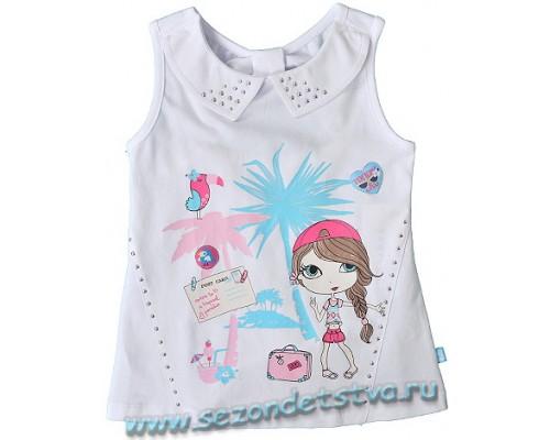 Блузка для девочки КР 300030/бел Crockid