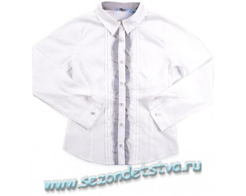 Блузка белая TK39025 Crockid