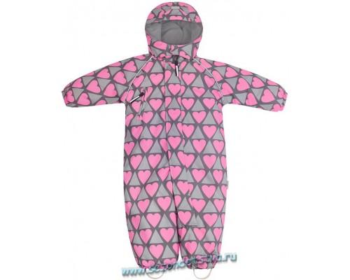 ВК 60008/н/23 Комбинезон мембранный Crockid для девочки розовый/сердечки