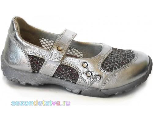 Flamingo серебристые туфли для девочки, стразы