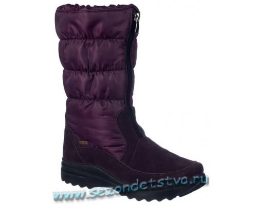 Сапоги темно-фиолетовые
