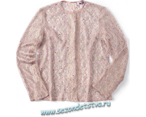 Блуза розовое кружево