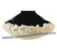 Пышная юбка черная/крем