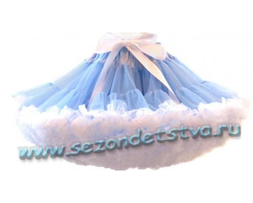 Пышная юбка голубая/белая