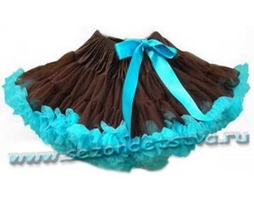 Пышная юбка шоколадный шик