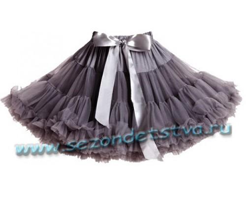 Пышная юбка элит серая