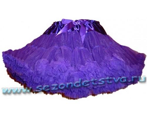 Пышная юбка фиолетовая
