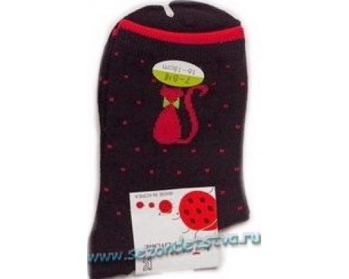 Носки черные Киска  Корея
