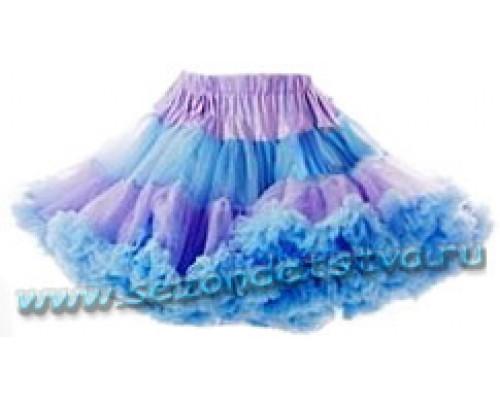 Пышная юбка голубая лагуна