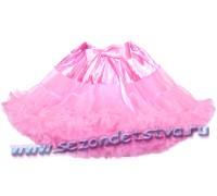 Пышная юбка розовая