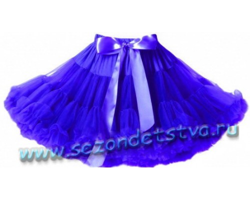 Пышная юбка синяя