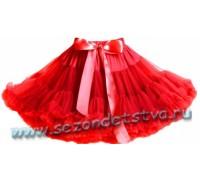 Пышная юбка красная
