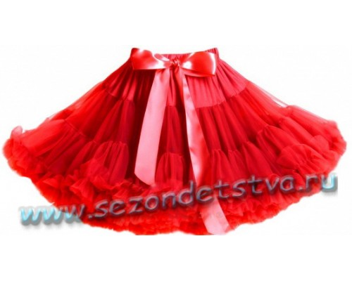 Пышная юбка красная ps83425