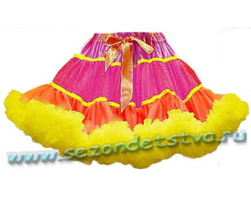 Пышная юбка Фуксия-лимон