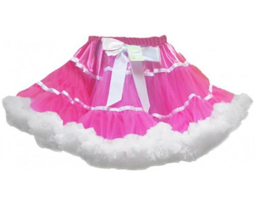 Пышная юбка розовый шик