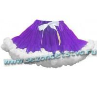 Пышная юбка фиолетовая/белая