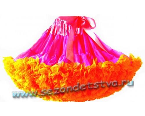 Пышная юбка розовая/оранж