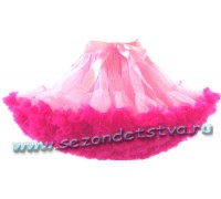 Пышная юбка розовый бум