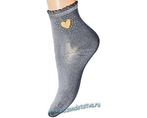 Носки серые Сердечко  Корея
