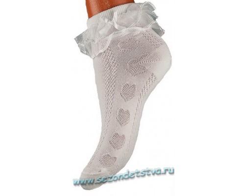 Носки белые Снежинка Корея