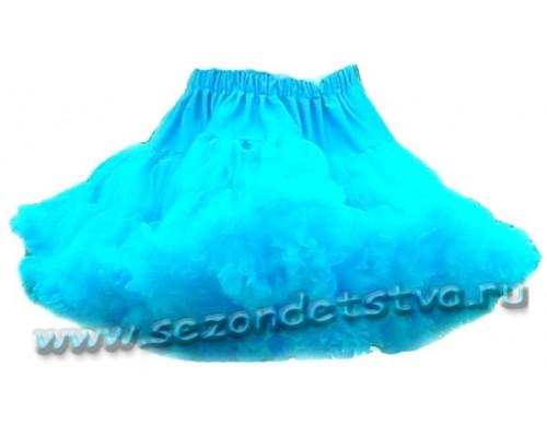 Пышная юбка бирюзовая