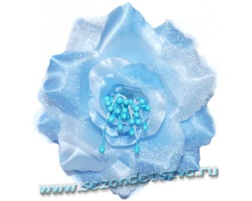 Заколка/брошь голубая 2 в 1 Z120 Корея
