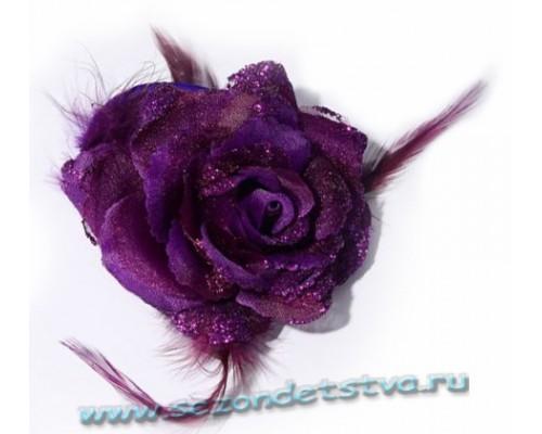 Заколка 3 в 1, фиолет