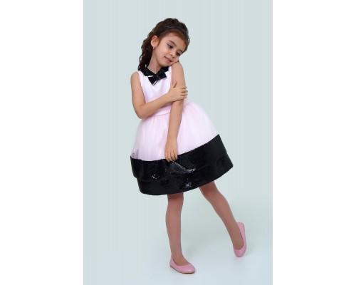 Платье Ladetto 1Н60-8 Ладетто, цвет розовый/черный