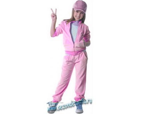Велюровый розовый костюм 0191 Орби