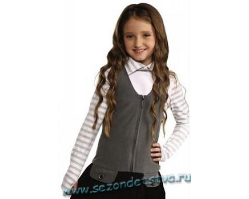Сарафан Орби серый с черным