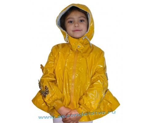 2275 Орби плащ для девочки желтый
