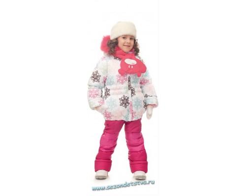 Комплект с шарфиком малиновый зимний 30583/2 Orby