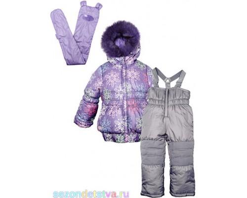 Комплект зимний с шарфиком фиолетовый 30583/3 Orby
