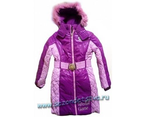 Пальто зимнее сиреневое Orby 60893