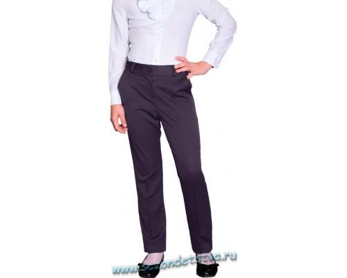 Серые школьные брюки для девочки Орби 61841