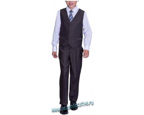 Брюки для мальчика школьные Орби, цвет серый.