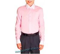 Сорочка розовая/белая