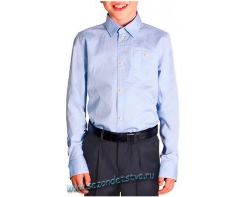 Белая школьная сорочка для мальчика с налокотниками, Орби